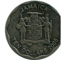Ямайка 10 долларов 2008 - 2015