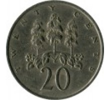 Ямайка 20 центов 1969-1990