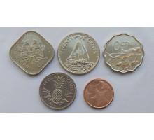 Багамы 2005-2015. Набор 5 монет