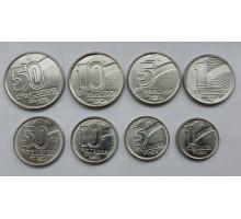Бразилия 1989-1992. Набор 8 монет. Профессии