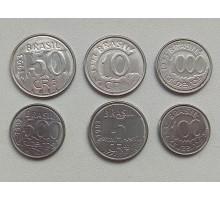 Бразилия 1992-1994. Набор 6 монет. Животные