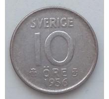 Швеция 10 эре 1956 серебро