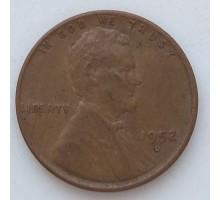 США 1 цент 1952 D