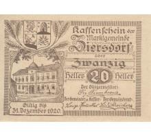 Австрия 20 геллеров 1920 Ziersdorf Нотгельд