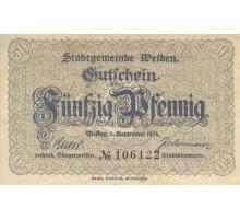 Германия 50 пфеннигов 1918 Weiden Нотгельд