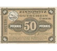Германия 50 пфеннигов 1921 Zinnowitz Нотгельд