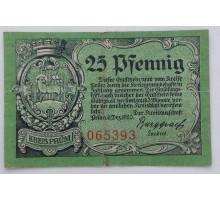 Германия 25 пфеннигов 1920 Kreis Prum Нотгельд