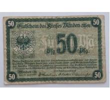 Германия 50 пфеннигов 1917 Minden Нотгельд