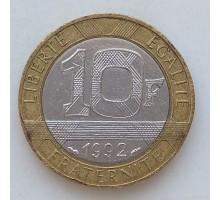 Франция 10 франков 1992