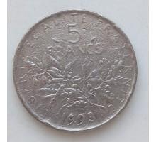 Франция 5 франков 1993