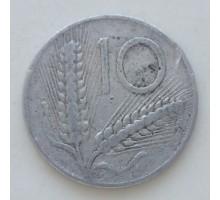 Италия 10 лир 1954