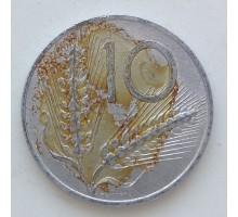 Италия 10 лир 1973