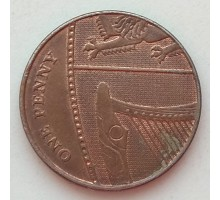 Великобритания 1 пенни 2008