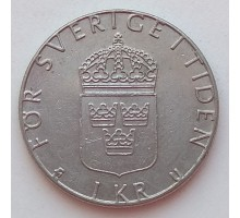 Швеция 1 крона 1984