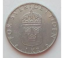 Швеция 1 крона 1990