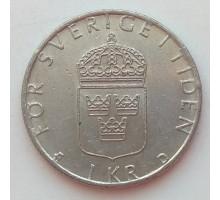 Швеция 1 крона 1991