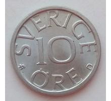 Швеция 10 эре 1989