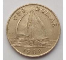 Бермуды 1 доллар 1988-1997