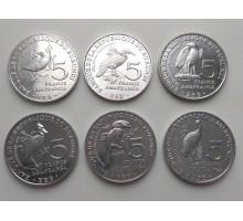 Бурунди 5 франков 2014. Набор 6 монет