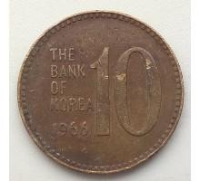 Южная Корея 10 вон 1966