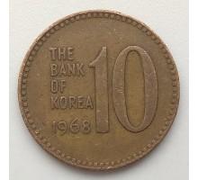 Южная Корея 10 вон 1968