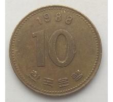 Южная Корея 10 вон 1988