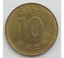 Южная Корея 10 вон 2000