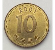 Южная Корея 10 вон 2001