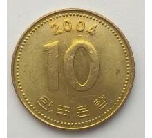 Южная Корея 10 вон 2004