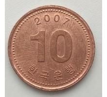 Южная Корея 10 вон 2007