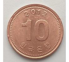 Южная Корея 10 вон 2012