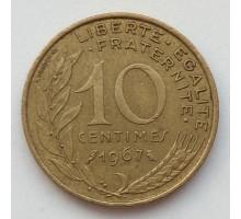 Франция 10 сантимов 1967