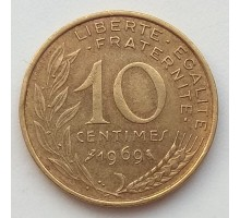 Франция 10 сантимов 1969