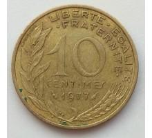 Франция 10 сантимов 1977