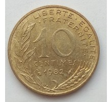 Франция 10 сантимов 1982