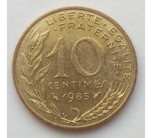 Франция 10 сантимов 1985