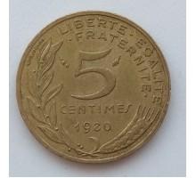Франция 5 сантимов 1980