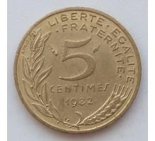 Франция 5 сантимов 1982