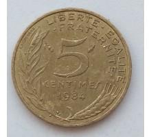 Франция 5 сантимов 1984