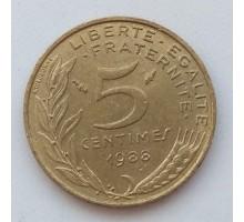 Франция 5 сантимов 1988