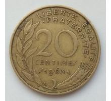 Франция 20 сантимов 1963