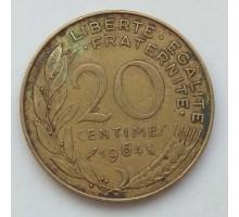 Франция 20 сантимов 1964