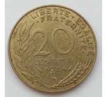 Франция 20 сантимов 1984