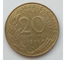 Франция 20 сантимов 1988