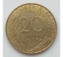Франция 20 сантимов 1996