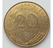 Франция 20 сантимов 1997
