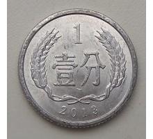 Китай 1 фень 2013
