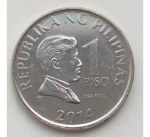 Филиппины 1 писо 2014