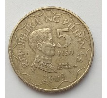 Филиппины 5 писо 2009