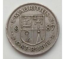 Маврикий 1 рупия 1987